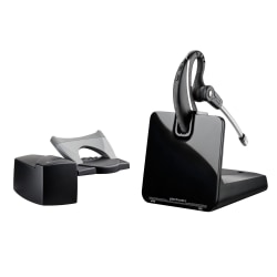 Plantronics® CS530 Wireless Headset System With HL10 Lifter, Black/Gray/Silver