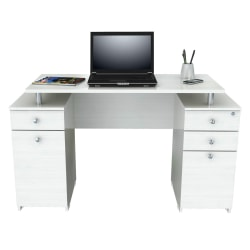 Inval Laura Standard Computer Desk, Washed Oak