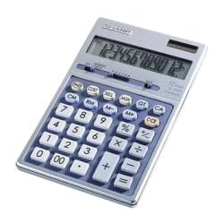 "Sharp Calculators Sharp EL339HB Desktop Display Calculator - Auto Power Source Switching - 12 Digits - LCD - Battery/Solar Powered - 1 - Button Cell - 6.9"" x 4.3"" x 0.7"" - Metal - 1 Each"