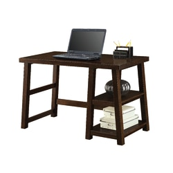 "Whalen Triton 48""W Computer Desk With Shelves, Walnut"
