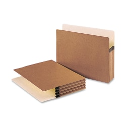 """Smead® Redrope File Pockets, Letter Size, 3 1/2"""" Expansion, 30% Recycled, Redrope, Box Of 50"""