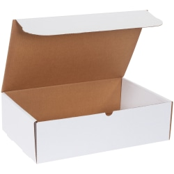 """Office Depot® Brand White Literature Mailers, 17 1/8"""" x 11 1/8"""" x 5"""", Pack Of 50"""