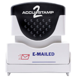 "ACCU-STAMP2® Pre-Ink Message Stamp, ""Emailed"", Red/Blue"