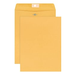 "Office Depot® Brand Clasp Envelopes, 9"" x 12"", Brown, Pack Of 25 Envelopes"