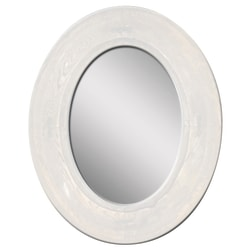 """PTM Images Framed Mirror, Villa I, 22 1/8""""H x 18 1/8""""W, White"""