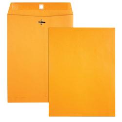 "Office Depot® Clasp Envelopes, 10"" x 13"", Brown, Box Of 100 Envelopes"