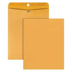 "Office Depot® Brand 11-1/2"" x 14-1/2"" Manila Envelopes, Clasp Closure, Brown Kraft, Box Of 100"