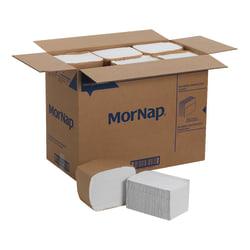 """MorNap® Full-Fold Dispenser Napkins, 12"""" x 17"""", White, 250 Sheets Per Sleeve, Case Of 6,000"""