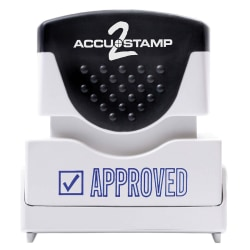 """ACCU-STAMP2® Pre-Ink Message Stamp, """"Approved"""", Blue"""