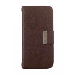 Kyasi Signature Phone Wallet Case For Samsung Galaxy S5, Saddleback Brown