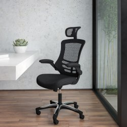 Flash Furniture Ergonomic Mesh High-Back Executive Office Chair, Black