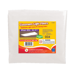 "Educational Insights® Classroom Light Filters, 24"" x 48"", Whisper White, Pack Of 4"