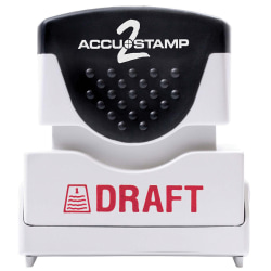 "ACCU-STAMP2® Pre-Ink Message Stamp, ""Draft"", Red"