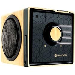 GOgroove BlueSYNC BX Bluetooth® Wireless Speaker, Wood/Gloss Black