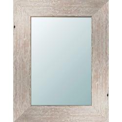 """PTM Images Framed Mirror, Light Wood, 13 5/8""""H x 11 5/8""""W, White"""