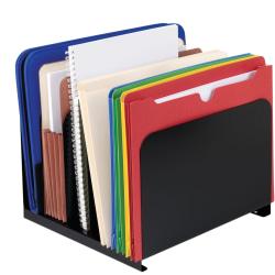 STEELMASTER® Vertical Steel Organizer, 5 Slots, Black