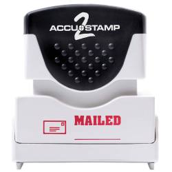 "ACCU-STAMP2® Pre-Ink Message Stamp, ""Mailed"", Red"