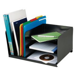 STEELMASTER® Vertical & Horizontal Combo Organizer, Black