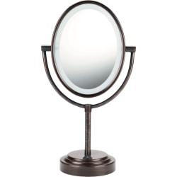 "Conair BE47BR Lighted Mirror - Oval - 7"" Width x 9.50"" Length - Bronze"