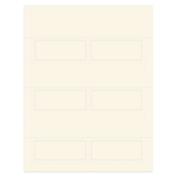 """Gartner Studios® Place Cards, Pearlized, 4"""" x 3"""", Ivory, Pack Of 48"""