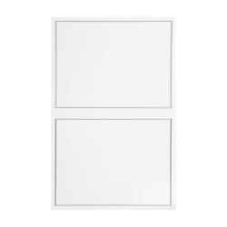 """Gartner Studios® Response Cards, 4 1/4"""" x 5 1/2"""", Platinum/White, Pack Of 50"""