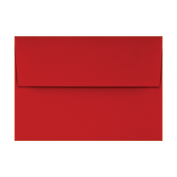 """LUX Invitation Envelopes With Moisture Closure, A1, 3 5/8"""" x 5 1/8"""", Holiday Red, Pack Of 50"""