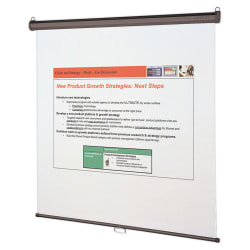 """Quartet® Wall Or Ceiling Projection Screen, 70"""" x 70"""""""