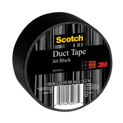 "Scotch® Colored Duct Tape, 1 7/8"" x 20 Yd., Black"