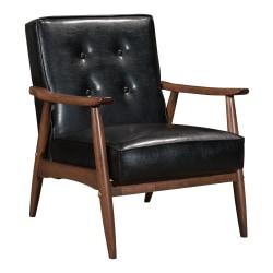 Zuo® Modern Rocky Arm Chair, Black/Walnut