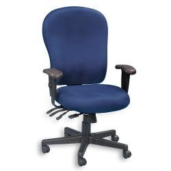 Raynor® XL 4 x 4 Fabric Task Chair, Navy/Black
