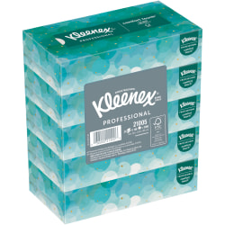 Kleenex® 2-Ply Facial Tissue, Flat, 100 Tissues Per Box, Pack Of 5 Boxes
