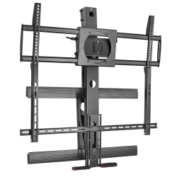 "Mount-It MI-373 Height-Adjustable Fireplace TV Mount For Screens 50 - 100"", 16""H x 27-1/2""W x 6-1/2""D, Black"