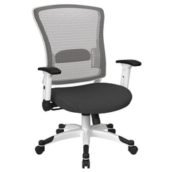 Office Star™ Space Seating Mesh Mid-Back Chair, Gray/White