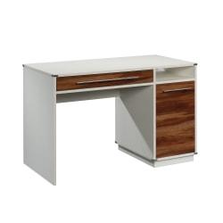 "Sauder® Vista Key 48""W Single-Pedestal Desk, Pearl Oak/Blaze Acacia"