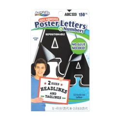 Artskills® Repositionable Letters, Black, Pack Of 150