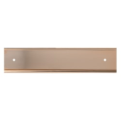 """Slide-In Metal Wall Mount Office Sign Holder, Gold Or Silver, 2"""" x 12"""""""