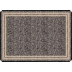 "Flagship Carpets Double-Border Rectangular Rug, 72"" x 100"", Gray"