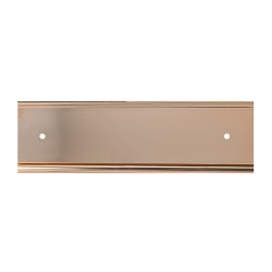 """Slide-In Metal Wall Mount Office Sign Holder, Gold or Silver,3"""" x 10"""""""
