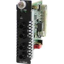 Perle C-100MM-S2ST80 Media Converter - 2 x ST Ports - 100Base-ZX, 100Base-FX - Internal