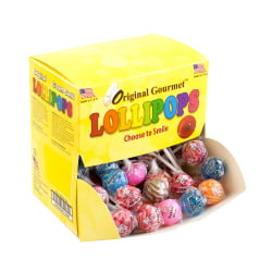 Original Gourmet Lollipops, Mini, 37 Oz, Box Of 100