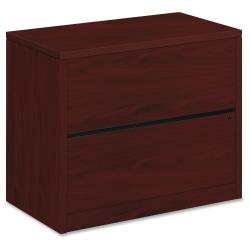 "HON® 10500 36""W Lateral 2-Drawer File Cabinet, Mahogany"