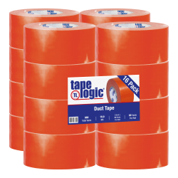 "Tape Logic® Color Duct Tape, 3"" Core, 3"" x 180', Orange, Case Of 16"