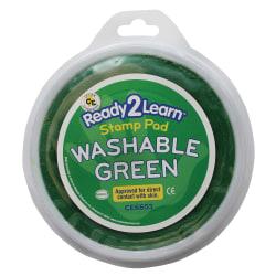Center Enterprises Jumbo Circular Washable Paint/Ink Pads, 1 Oz, Green, Pack Of 6