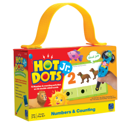 "Learning Resources® Hot Dots® Jr. Numbers And Counting Cards, 6"" x 4"", Pre-K - Grade 2, Set Of 36"