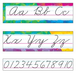 TREND Color Splash Zaner-Bloser Cursive Alphabet Bulletin Board Set, Multicolor, Grades Pre-K - 8
