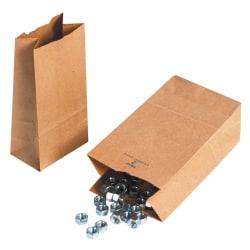 "Partners Brand Hardware Bags, 16 1/8""H x 8 1/4""W x 5 5/16""D, Kraft, Case Of 500"