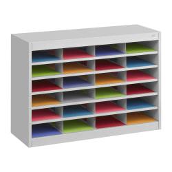 """Safco® E-Z Stor® Steel Literature Organizer, 24 Compartments, 25-3/4""""H, Gray"""