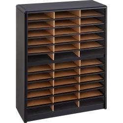 Safco® Value Sorter® Steel Corrugated Literature Organizer, 36 Compartments, Black