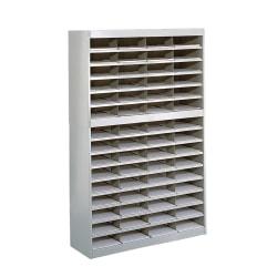 """Safco® E-Z Stor® Steel Literature Organizer, 60 Compartments, 60""""H, Gray"""