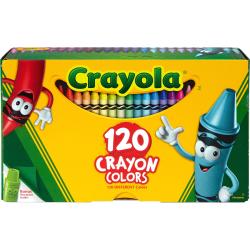 Crayola® Standard Crayons, Assorted Colors, Box Of 120 Crayons
